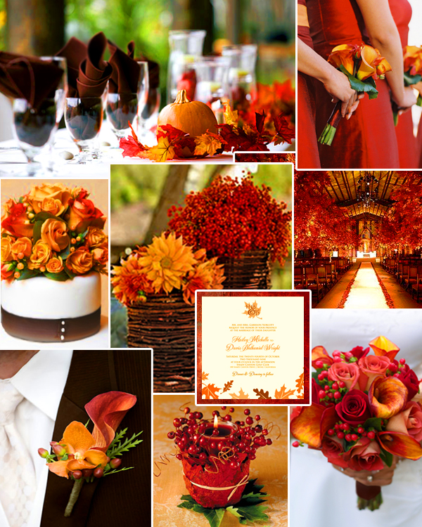 Fall Color Scheme Magnificent Of Burnt Orange Fall Wedding Colors Picture