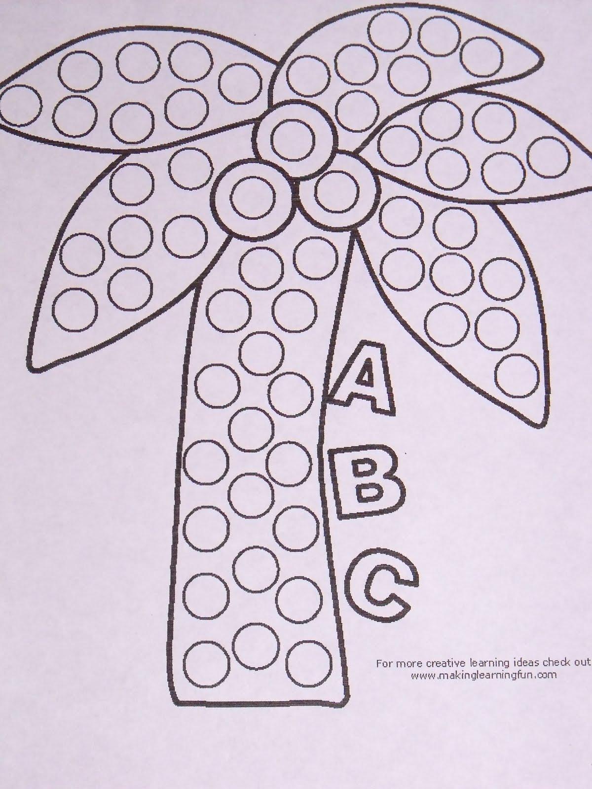 Chicka chicka boom boom tree coloring page