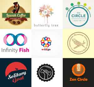 Circle of Inspiration: 45 logos with the terms 