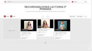 RECOMENDACIONES LECTORAS DE LOS ALUMNOS
