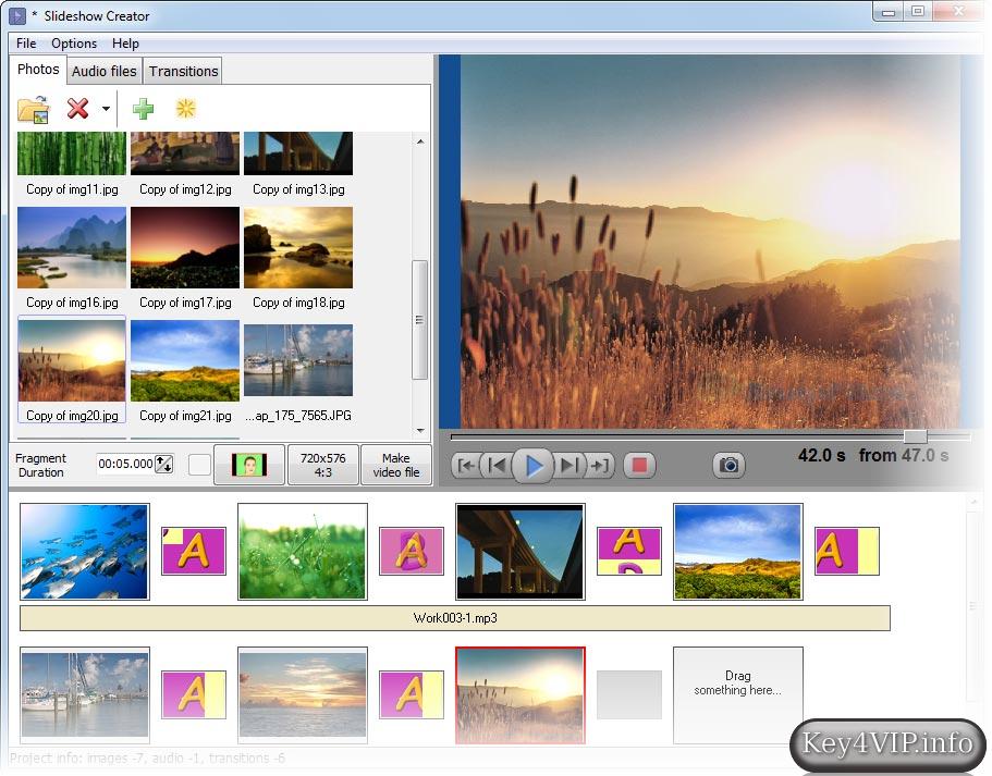 Amazing Slideshow Maker 3.4.6.0 Full,Tạo Slideshow hình ảnh và lồng nhạc tuyệt đẹp