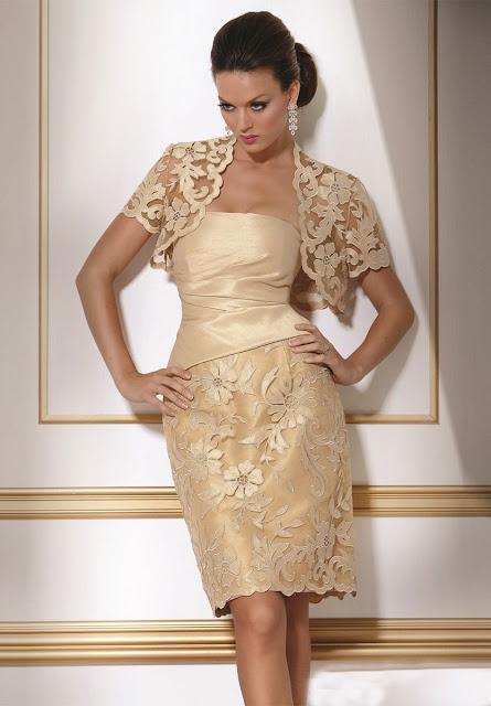 vestidos de mãe da noiva dourado
