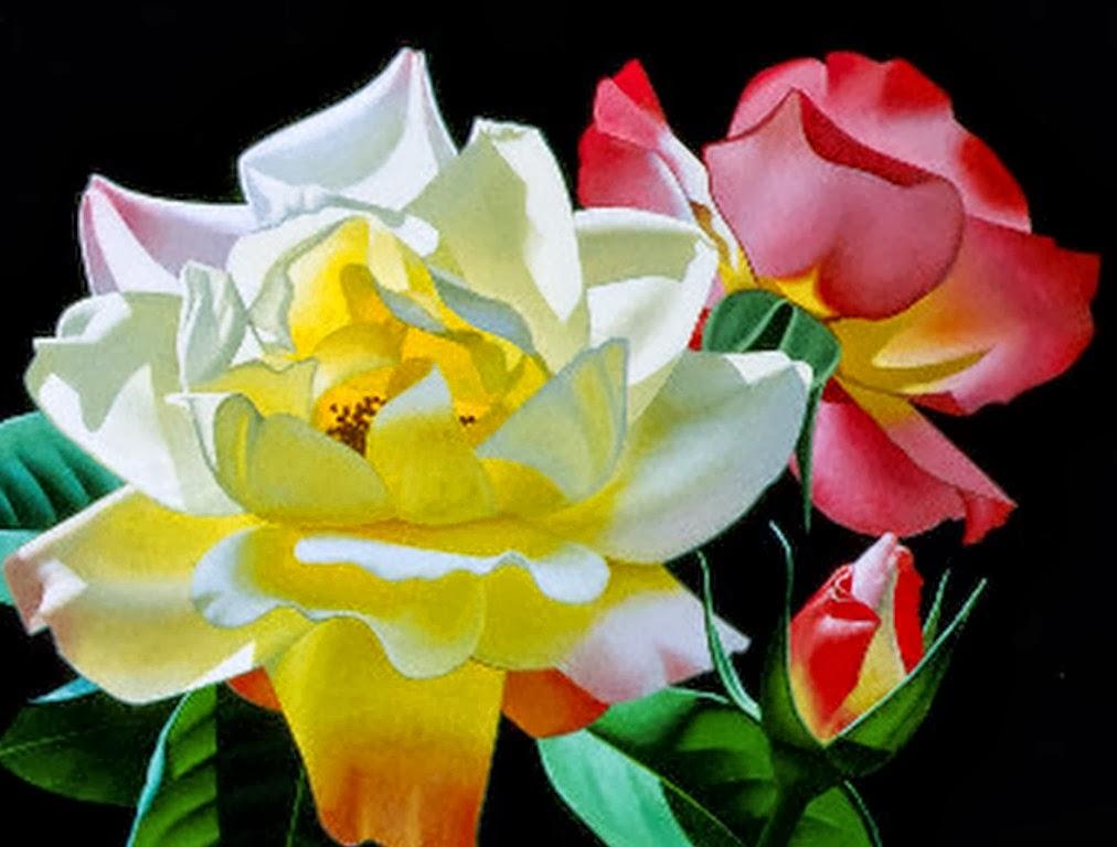 Cuadros Modernos Pinturas y Dibujos : Cuadros de Flores Grandes: Brian