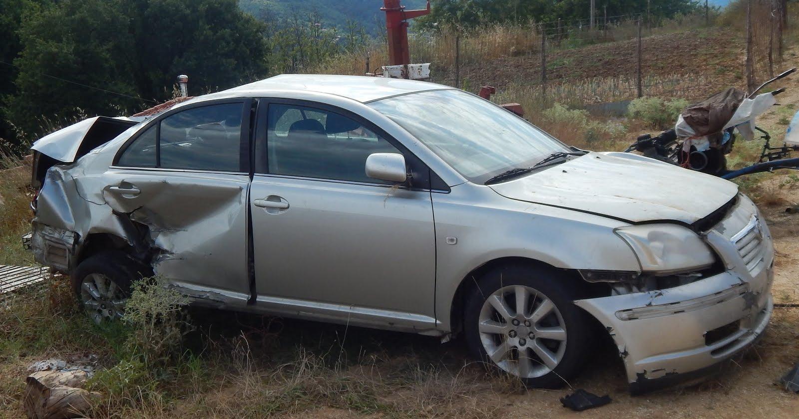 Παρακάλαμος: Πωλείται TOYOTA AVENSIS 1800 cc, τρακαρισμένο