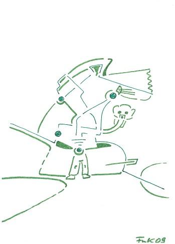 Zeichnung Bild / painting picture : mein Teddybär / my teddy bear