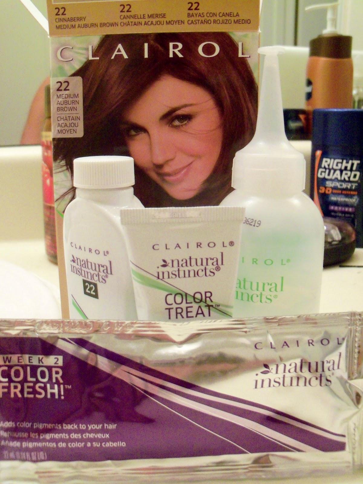 Medium Auburn Hair Dye Put color on your hair and let