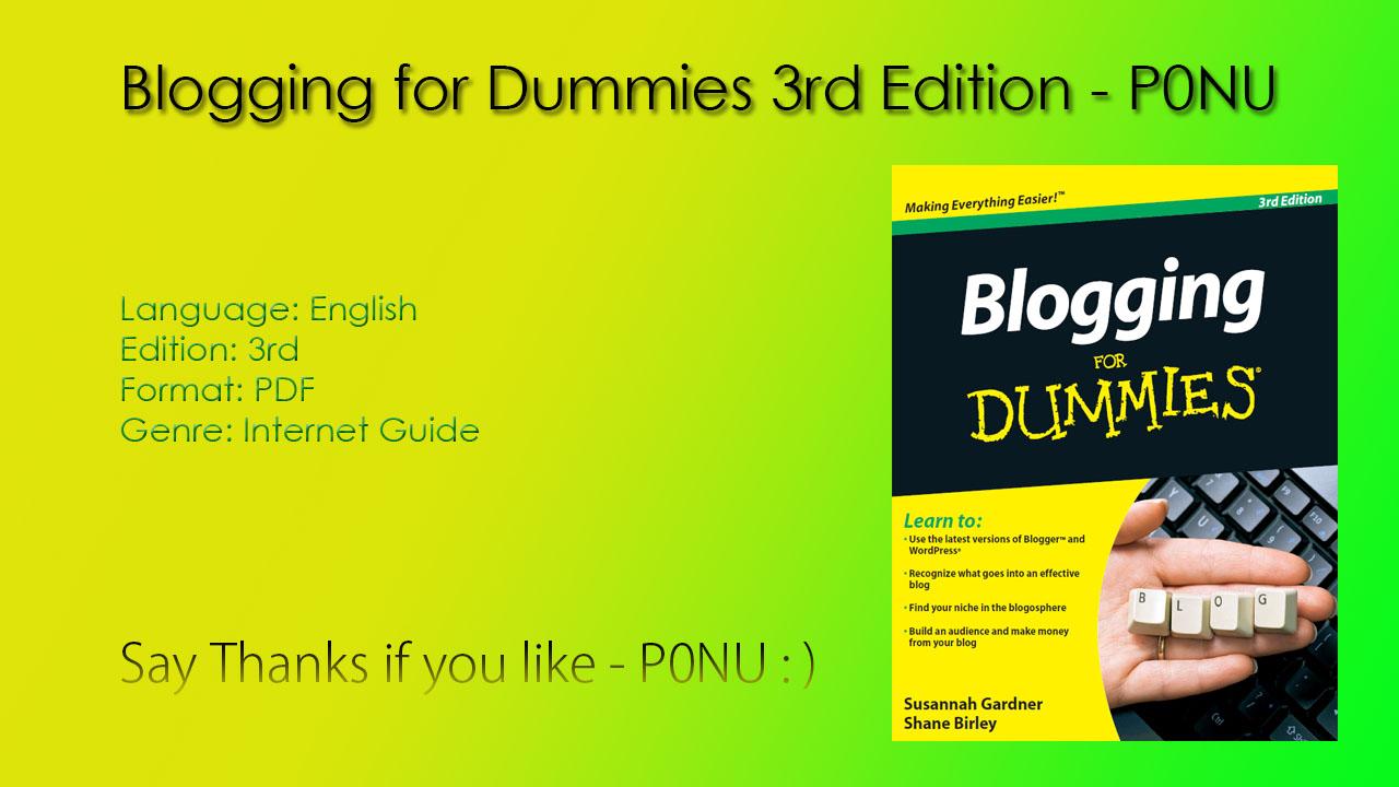 blogging for idiots