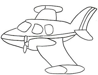 Desenhos de Avião para imprimir
