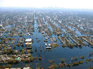 2005: Flooding from Hurricane Katrina in New Orleans - Source: NOAA