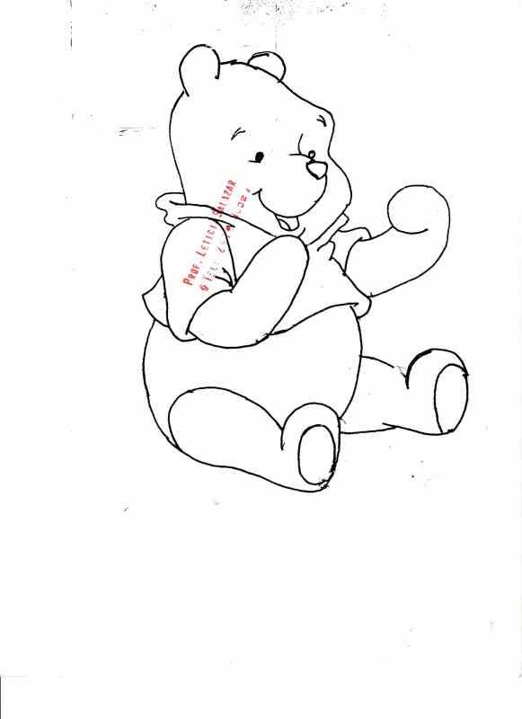 Moldes para foami de Winnie Pooh - Imagui