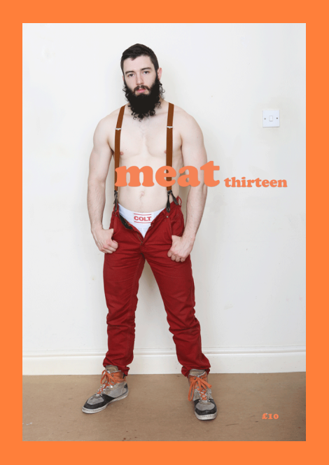 Arthur Gillet Goes Shirtless in Meat Zine