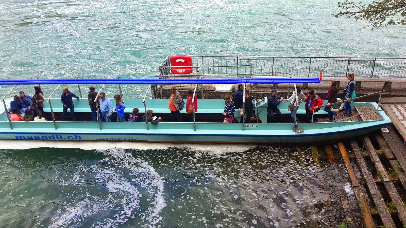 Zurich Rhinefall boat ride