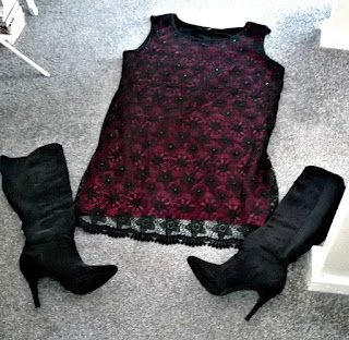 Dress from Yours and boots from New Look