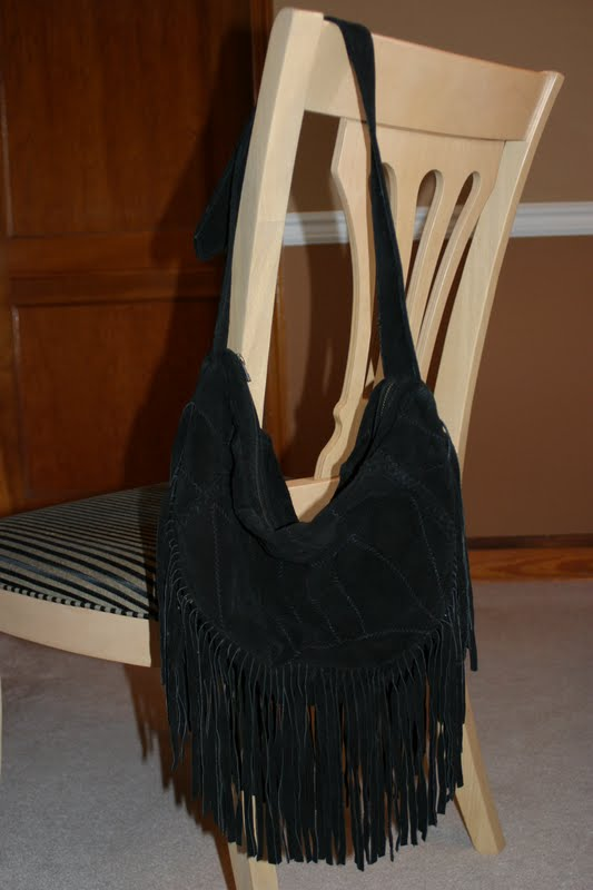 Julie's Journeys: Suede Fringe Hobo Bag