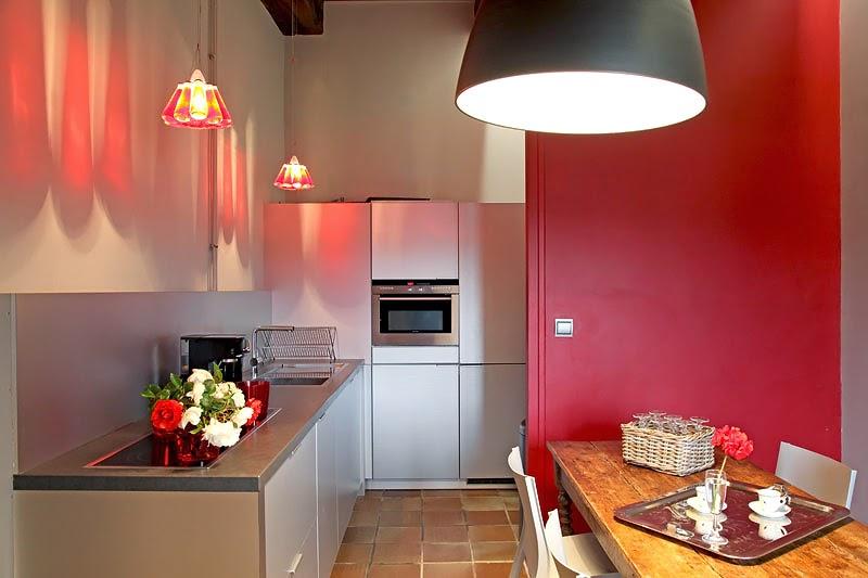 si estas cansada de ver las cocinas totalmente blancas y te gusta un toque de color entonces sta seguro que te encantar