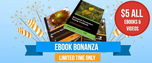 Packt's $5 eBook Bonanza is back!