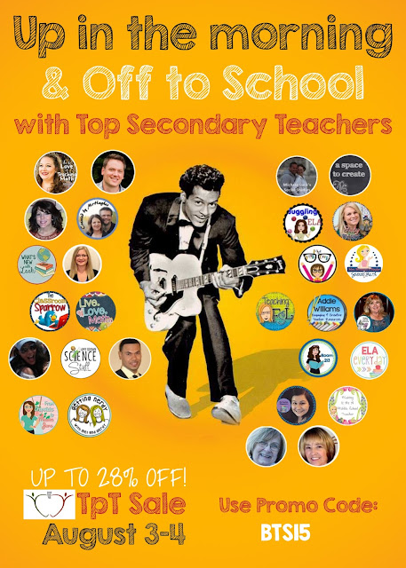TpT Sale Top Secondary Teachers August 2015