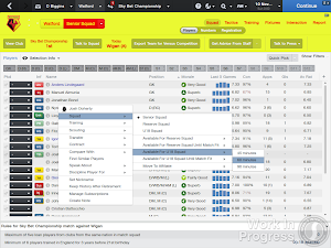 FM14 squad selection youth and reserves