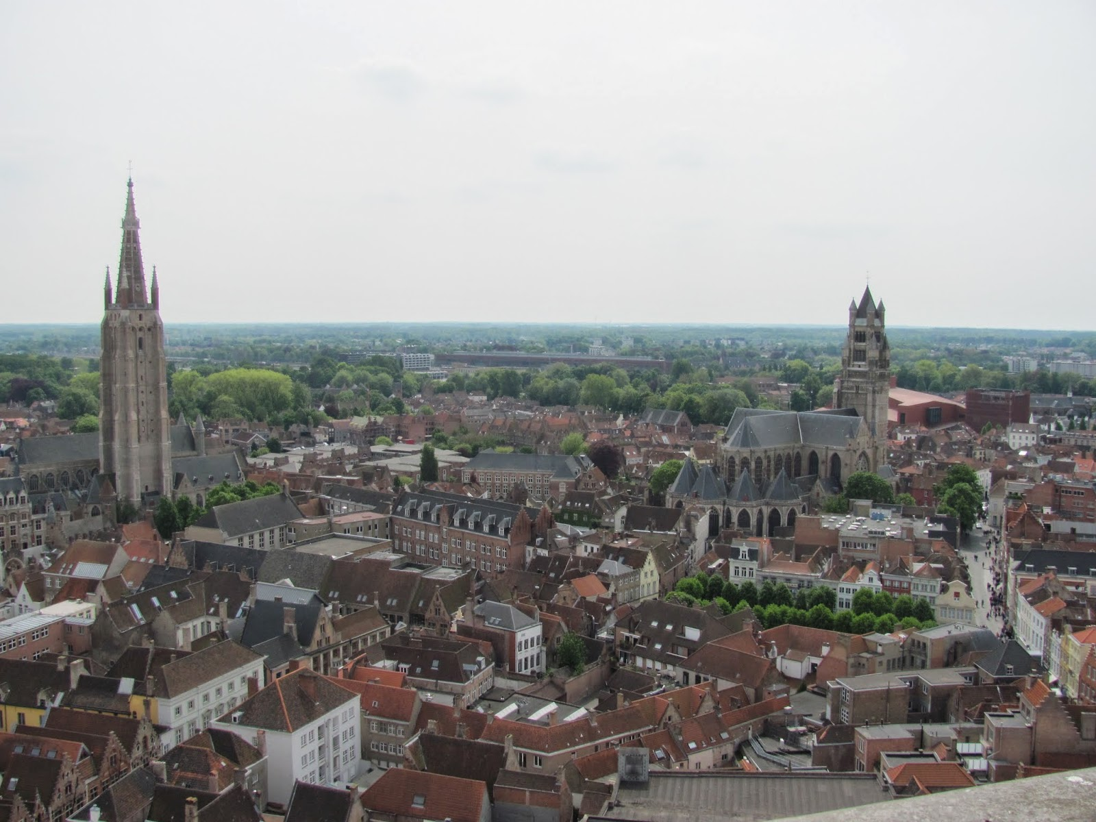 Bruges Steeples seen from the Bell Tower