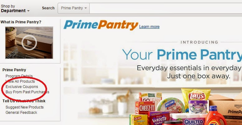 Prime pantry coupon code