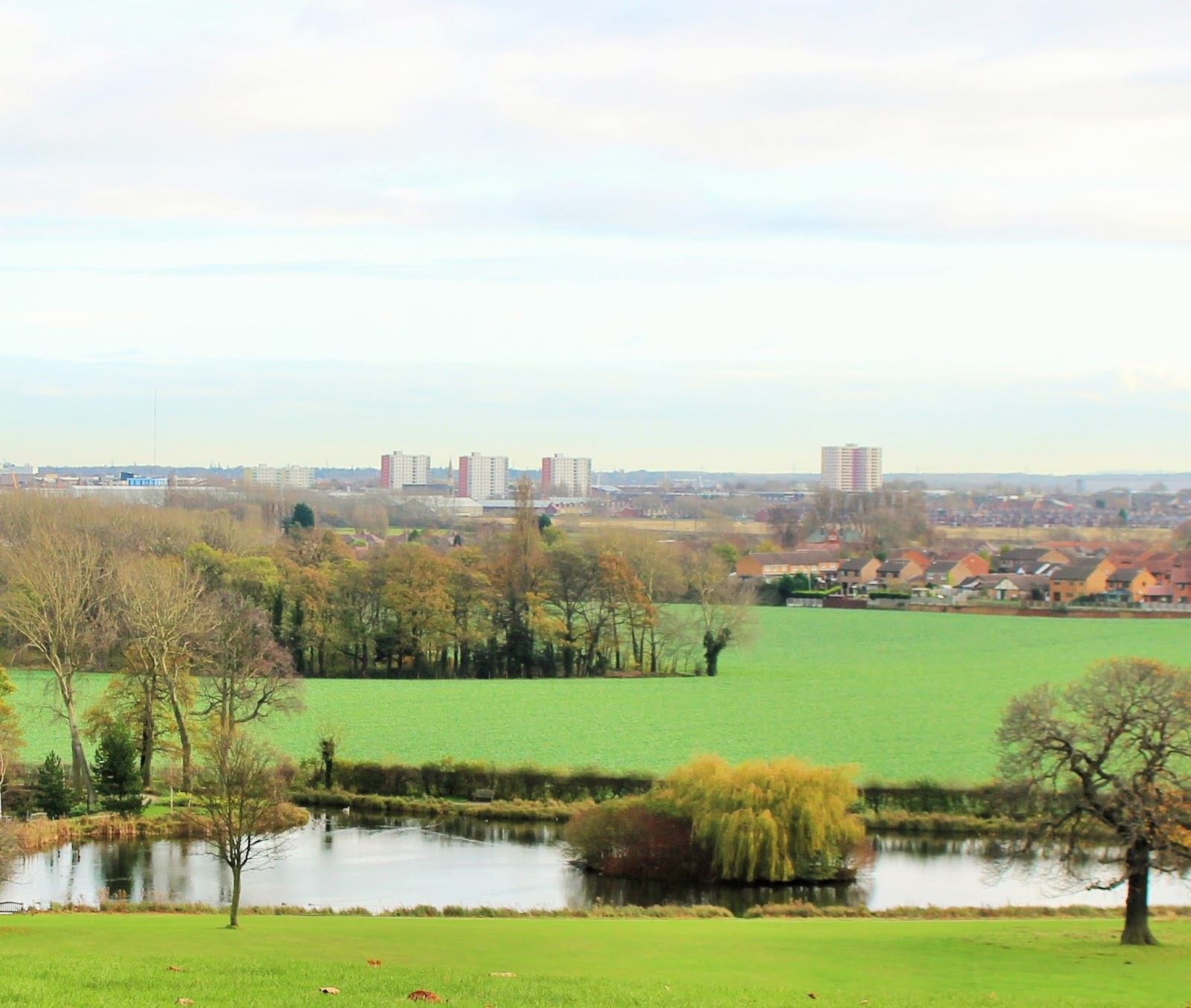 View of Doncaster from Cusworth Hall, Doncaster