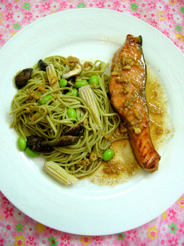 Peng's Kitchen: Soy & Ginger Salmon with Cha Soba