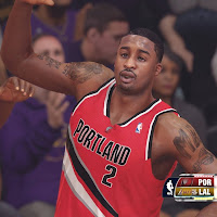 Wesley Matthews Celebrating in NBA 2k14