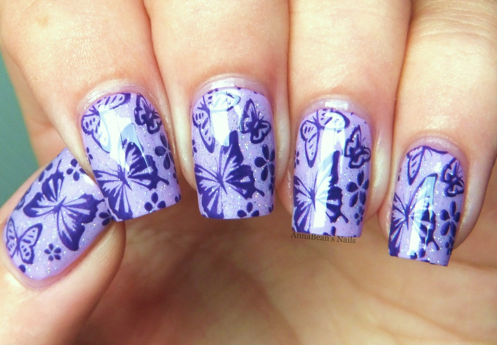Annabeans nails butterfly nail art with pueen nails inc upper that was officially my favourite nail art prinsesfo Choice Image