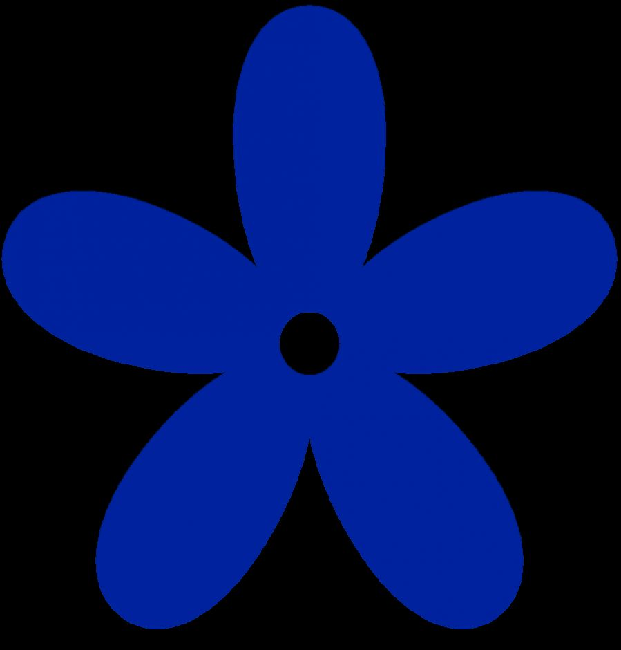 Royal Blue Flower Clipart   Clipart Kid