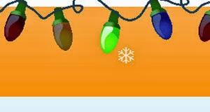 Рождественские огни и Падающий снег для украшения блога