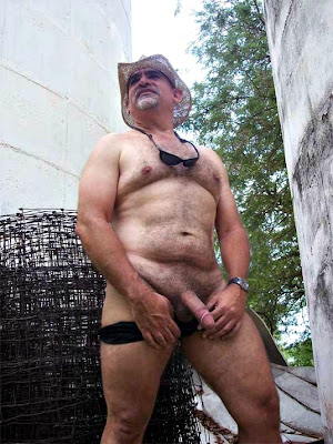 outdoorsman07012012 17 Chubby Sexy Guys Outdoors with their Cocks Hanging Out