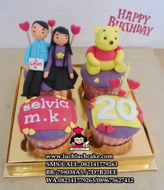 Cupcake Winnie The Pooh Untuk Pacar Daerah Surabaya - Sidoarjo