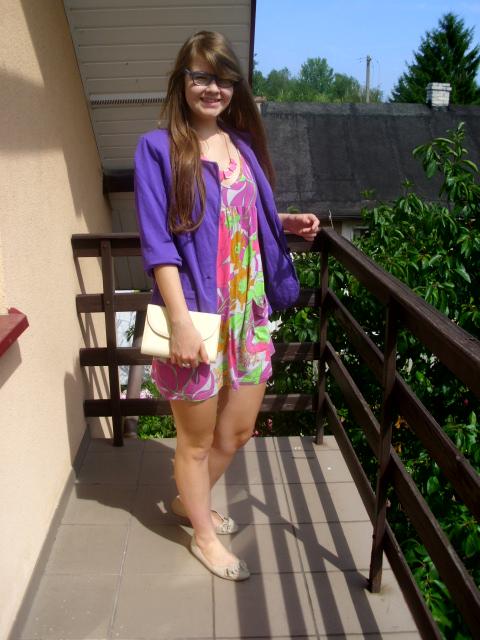 OOTD: mój sposób na sukienkę w tropikalne wzory