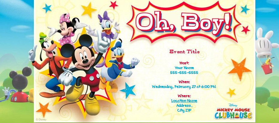The Leader In Digital Invitations And Social Planning To Create A New Collection Of Disney Themed Online Party With Super Cute Designs