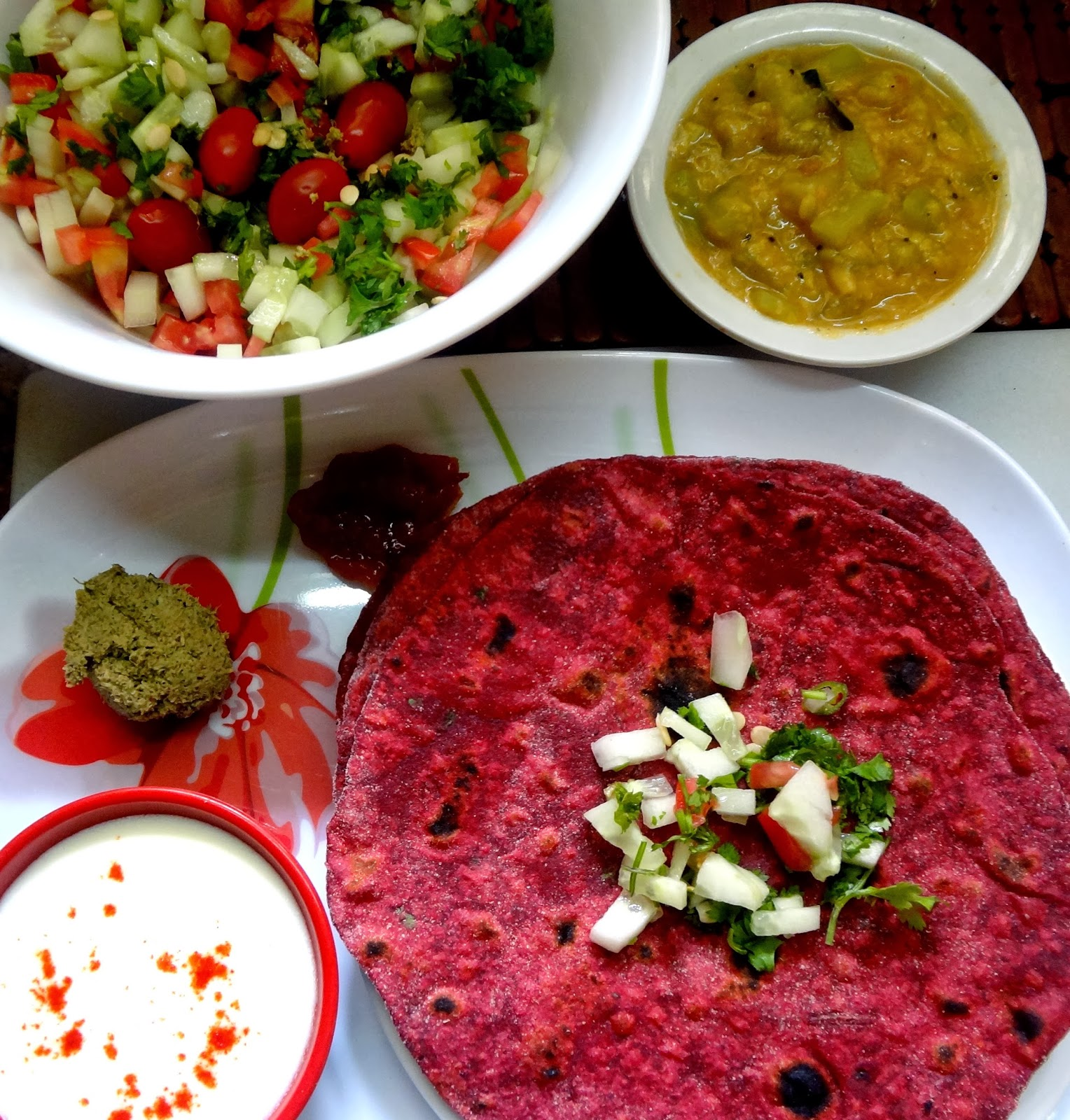 Your Everyday Cook: Beet root cabbage Parathas