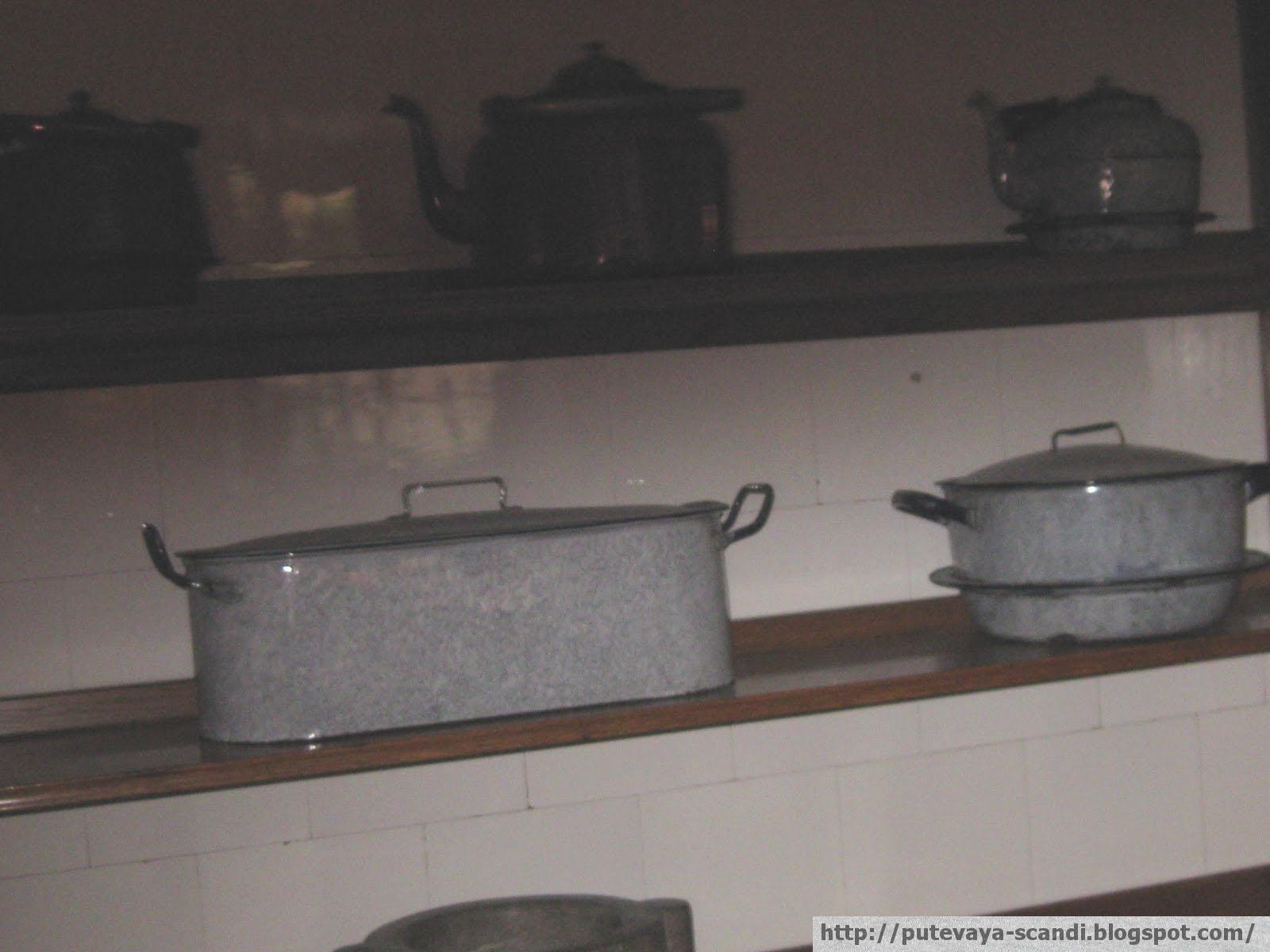 старинные кастрюльки и чайники