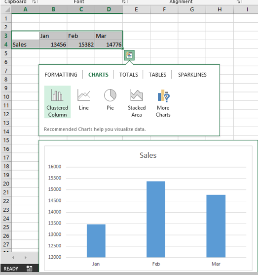 how to turn on quick analysis in excel