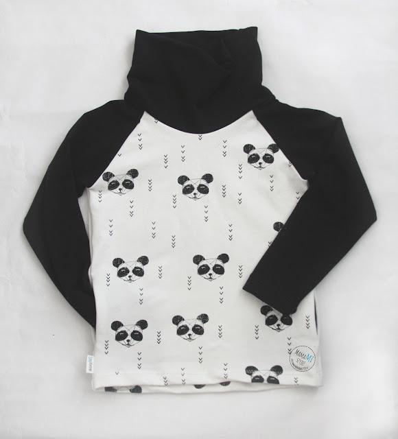 czarno-biała bluza dla dziecka unisex