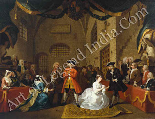 Hogarth's venture into oil painting proved a success. He painted six versions of The Beggar's Opera, each capturing the drama of the theatre.