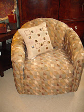 Geometric Print Swivel Chair