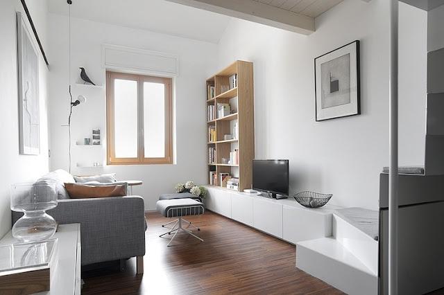 Skandinavisches Design für Einrichten und Wohnen auf kleinstem Raum: Wohnzimmer
