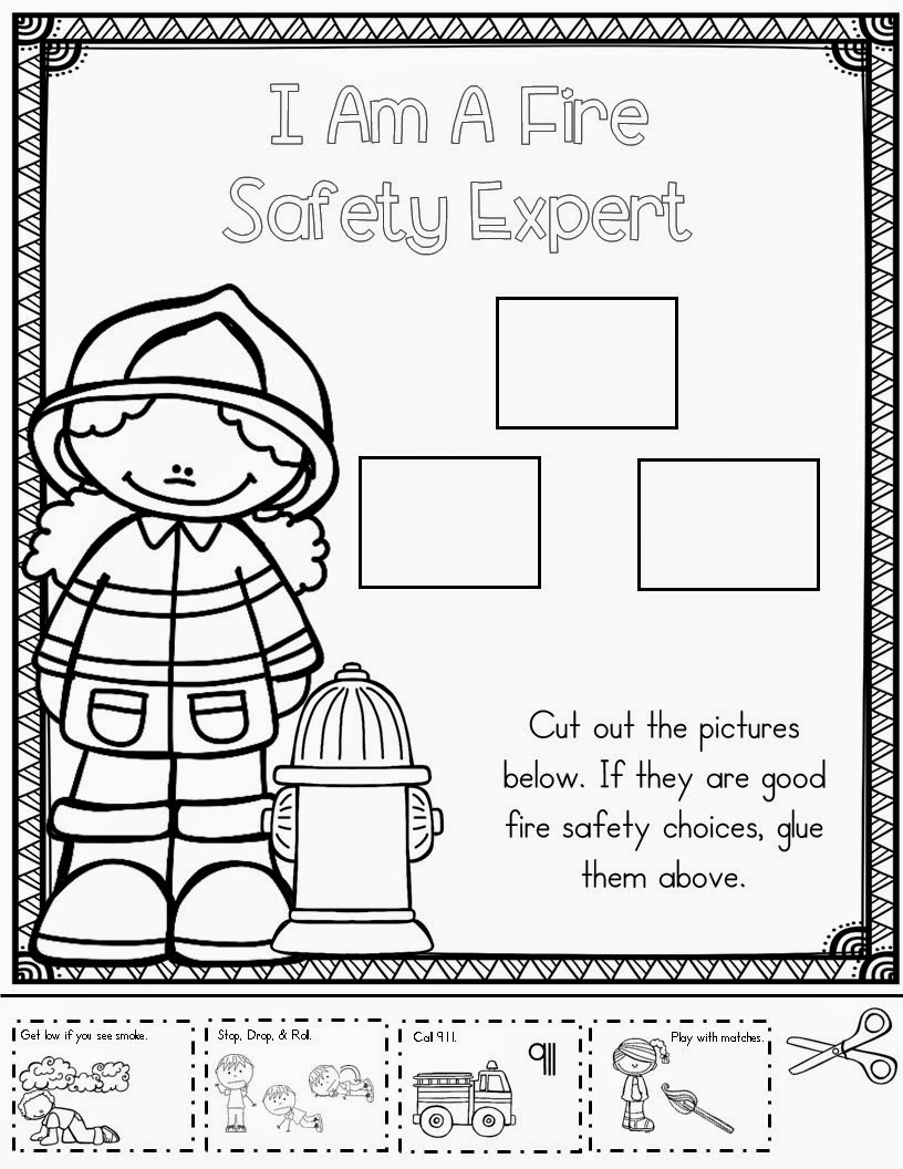Mrs mcginnis 39 little zizzers fire safety for Fire escape plan worksheet