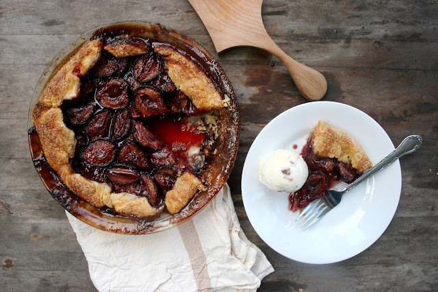 Italian Plum & Port Crostata and Slice