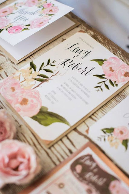 Let the World Know You've Set the Date with Flowers on Your Wedding Invites