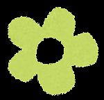 小さな花のイラスト「パステル・黄緑」