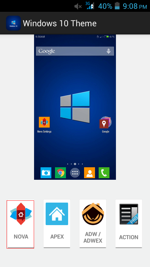 Windows 10 Theme  for Android Phones