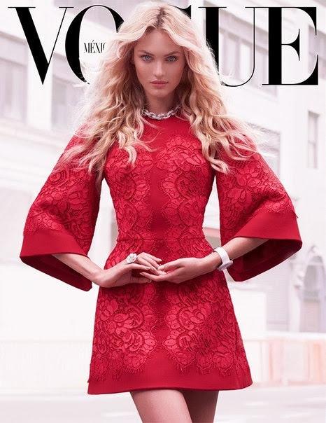 vogue kırmızı elbise kapak