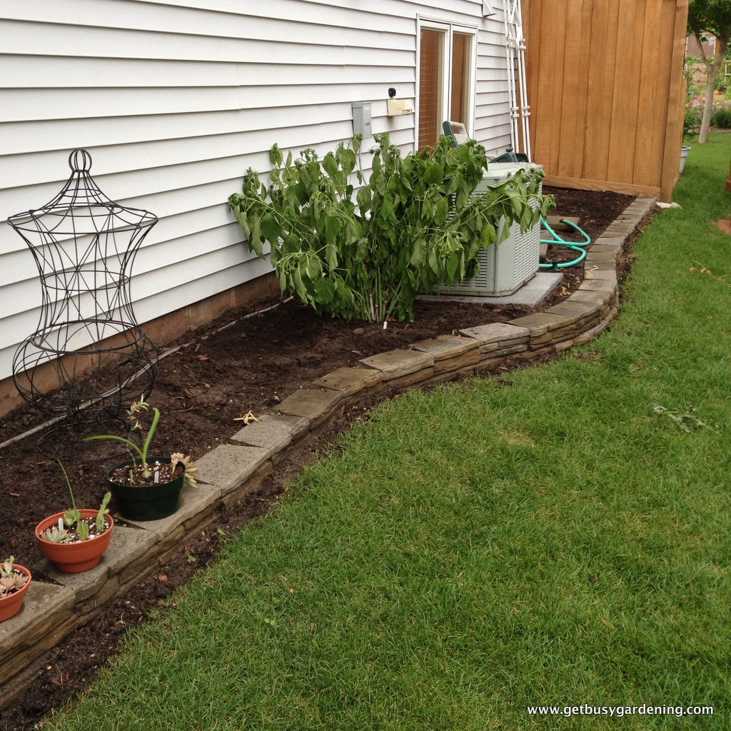 retaining wall extension project - get busy gardening