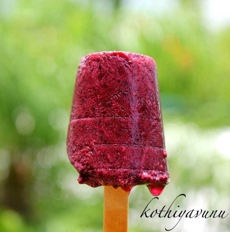 ... Strawberry - Blueberry Popsicles Recipe |Berry Pops - Kothiyavunu.com