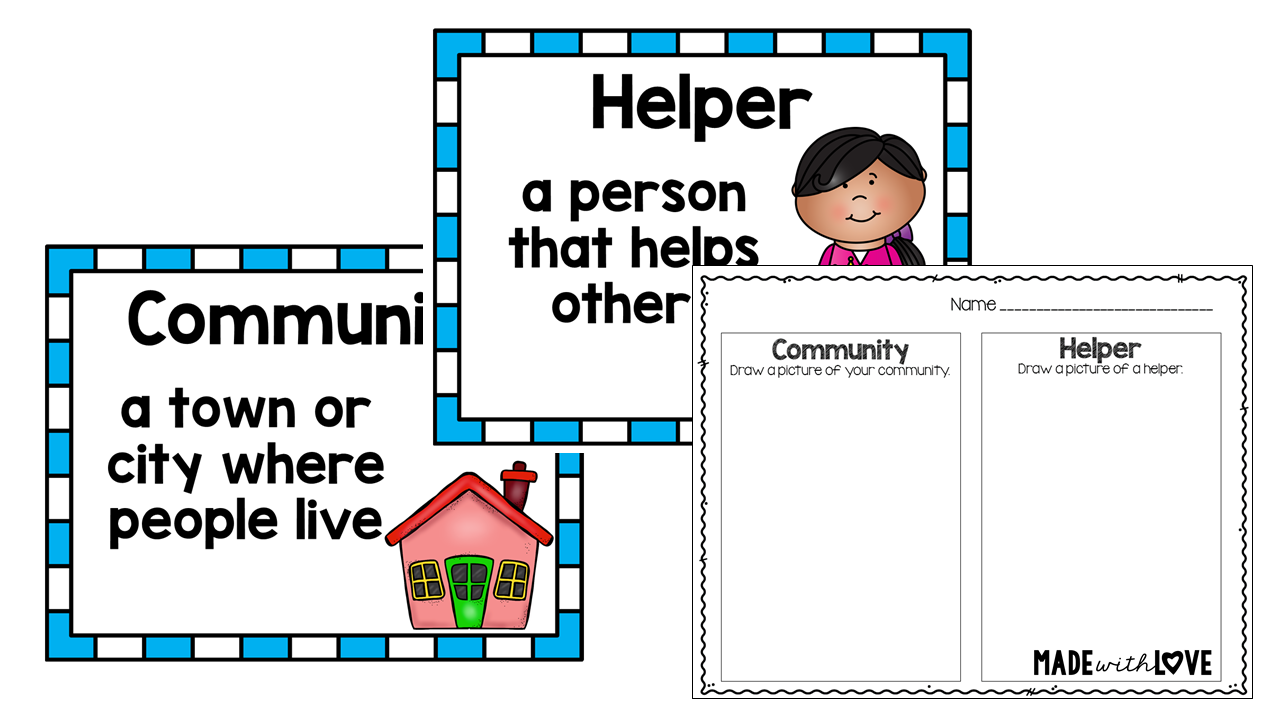 made with love summer share and prepare community helpers
